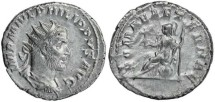 Ancient Coins - Philip I 'the Arab' silver antoninianus - ROMAE AETERNAE