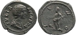 Ancient Coins - Julia Domna AR denarius - Wife Of Septimius Severus - IVNO