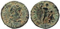 Ancient Coins - Roman coin of Valentinian II Ae2 - VIRTVS EXERCITI