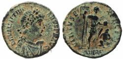 Ancient Coins - Roman coin of Valentinian II Ae2 - VIRTVS EXERCITI