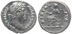 Ancient Coins - Roman coin of Hadrian AR silver denarius - PIETAS AVG