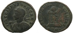 Ancient Coins - Crispus as Caesar - BEATA TRANQVILLITAS - Treveri Mint