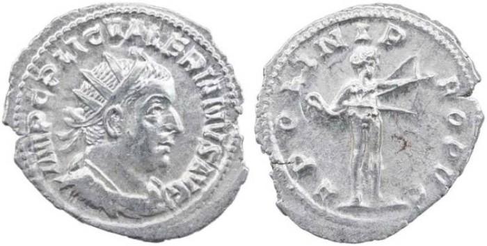 Ancient Coins - Valerian I AR Antoninianus - APOLLINI PROPVG