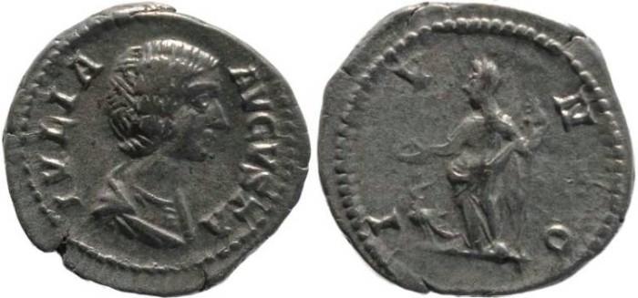 Ancient Coins - Julia Domna AR denarius - Wife Of Septimius Severus - IVNO