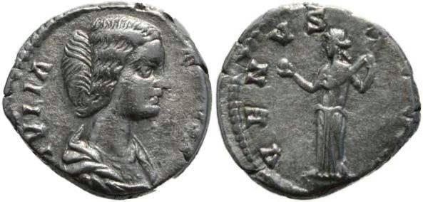 Ancient Coins - Julia Domna 193-211AD denarius - Venus