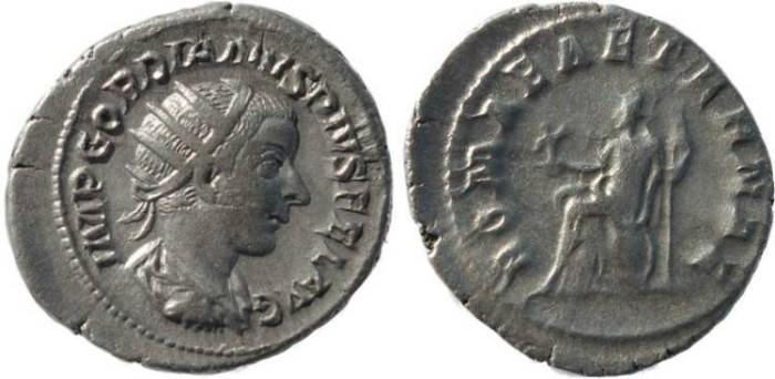 Ancient Coins - Gordian III 238-244AD silver antoninianus - ROMAE AETERNAE