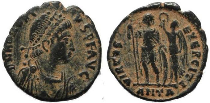 Ancient Coins - Honorius - VIRTVS EXERCITI - Antioch Mint