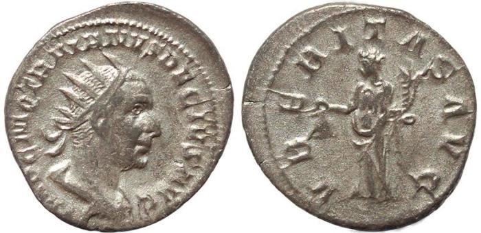 Ancient Coins - Roman coin of Trajan Decius AR antoninianus - VBERITAS AVG
