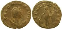 Ancient Coins - Salonina silver antoninianus Milan mint