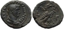 Ancient Coins - Bold Ae Tetradrachm of Gallienus - Alexandria Egypt