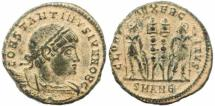 Ancient Coins - Roman coin of Constantine II - GLORIA EXERCITVS - Antioch
