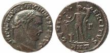 Ancient Coins - Roman coin of Maximinus II Ae follis - GENIO EXERCITVS - Antioch