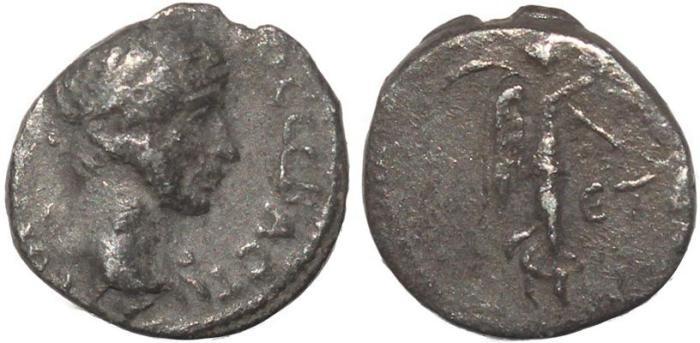 Ancient Coins - Roman Provincial coin of Hadrian AR silver Hemidrachm of Caesarea Cappadocia