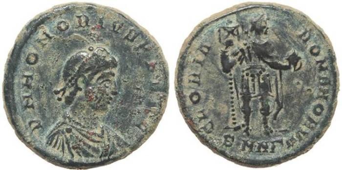 Ancient Coins - Roman coin of Honorius Ae2 - GLORIA ROMANORVM - Nicomedia
