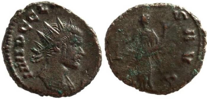 Ancient Coins - Claudius II silvered antoninianus - AEQVITAS AVG