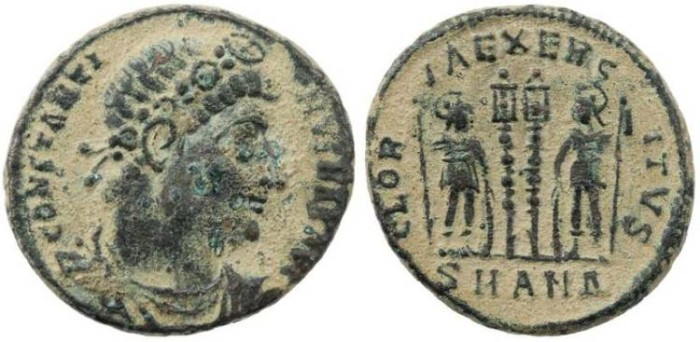 "Ancient Coins - Constantine I ""The Great"" 307-337AD - GLORIA EXERCITVS - Antioch Mint"