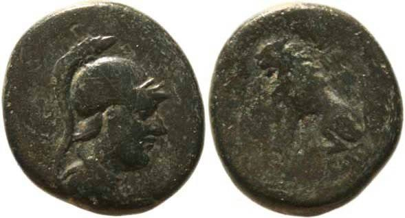Ancient Coins - Rare Peltai, Phrygia struck under King Attalus I 2nd-1st cent BC