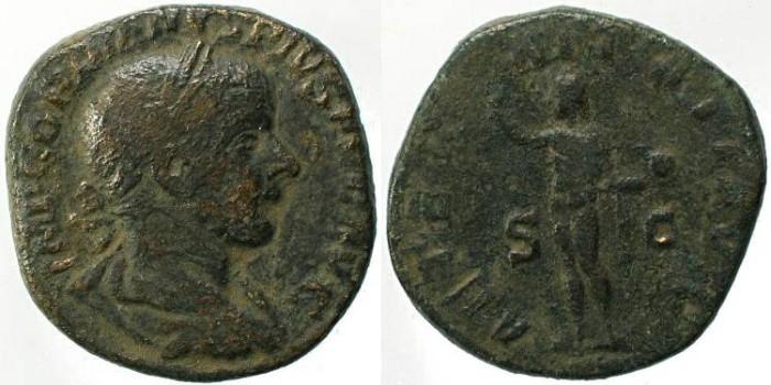 Ancient Coins - Gordian III 238-244AD Æ sestertius AETERNITATI AVG