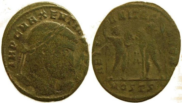 Ancient Coins - Maxentius follis - Ostia Mint