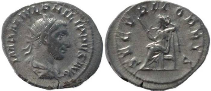 Ancient Coins - Philip I silver antoninianus - SECVRIT ORBIS