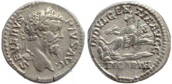 Ancient Coins - Septimius Severus AR silver denarius - INDVLGENTIA AVGG