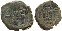 Ancient Coins - Byzantine coin of Heraclius 610-641 AD AE Follis - Constantinople