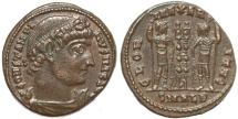 Ancient Coins - Roman coin of Constantine I - GLORIA EXERCITVS - Alexandria
