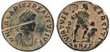 Ancient Coins - Roman coin of Arcadius Ae2 - VIRTVS EXERCITI - Constantinople Mint