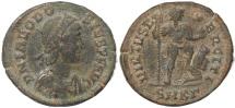 Ancient Coins - Roman coin of Theodosius I - VIRTVS EXERCITI - Cyzicus Mint