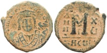 Ancient Coins - Byzantine coin of Maurice Tiberius 582-602 AD AE Follis - Antioch as Theopolis