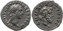 Ancient Coins - Roman coin of Trajan 98-117AD AR Hemidrachm - Cyrenaica, Cyrene.