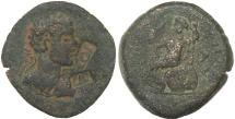 Ancient Coins - Roman Provincial coin of Caracalla - Syria, Seleuicis and Pieria, Laodicea ad Mare- two countermarks