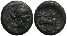 Ancient Coins - Thyateira, Lydia Ae 14 2nd Century BC