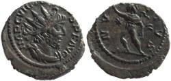 Ancient Coins - Victorinus AE silvered antoninianus - INVICTVS