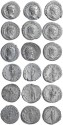 Ancient Coins - 9 Roman silver antoninianus of Gordian III