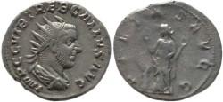 Ancient Coins - Trebonianus Gallus silver antoninianus - PIETAS AVGG