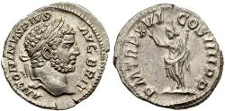 Ancient Coins - Roman coin of Caracalla AR silver denarius - P M TR P XVI COS III P P - Rome