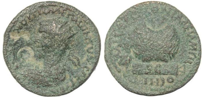 Ancient Coins - Roman Provincial coin of Hostilian - Mallus, Cilicia
