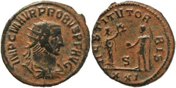Ancient Coins - Probus Antoninianus, Antioch Mint - RESTITVT ORBIS