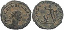 Ancient Coins - Roman coin of Aurelian Ae Antoninianus - CONSERVAT AVG