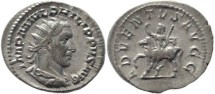 Ancient Coins - Philip I 'the Arab' silver antoninianus - ADVENTVS AVGG