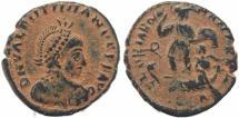 Ancient Coins - Roman coin of Valentinian II - GLORIA ROMANORVM - Constantinople