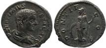 Ancient Coins - Geta AR Denarius - PONTIF COS - RSC 104, RCV 7186.