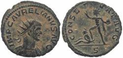 Ancient Coins - Roman coin of Aurelian Ae Antoninianus - CONSERVAT AVG