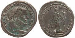 Ancient Coins - Roman coin of Maximianus Ae large follis - SACRA MON VRB AVGG ET CAESS NN - Rome