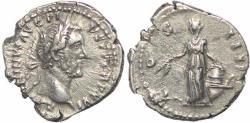 Ancient Coins - Roman coin of Antoninus Pius AR silver Denarius - COS IIII