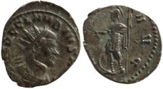 Ancient Coins - Claudius II silvered antoninianus - VIRTVS AVG