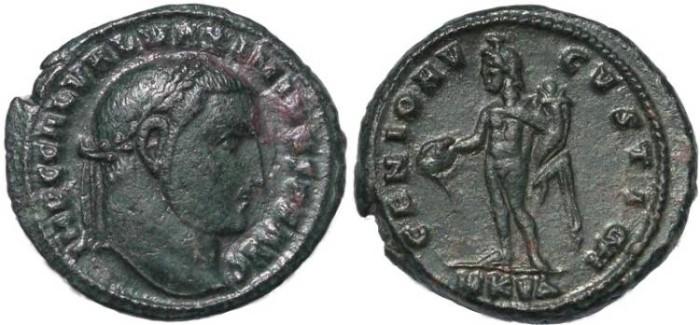 Ancient Coins - Galerius AE Follis - Cyzicus Mint