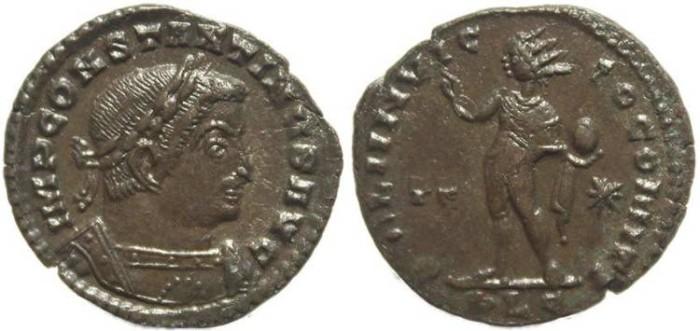 Ancient Coins - Ancient Roman coin of Constantine I - SOLI INVICTO COMITI - Lugdunum Mint