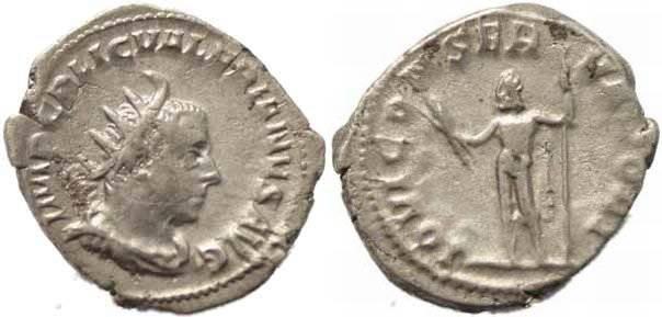 Ancient Coins - Valerian Antoninianus - IOVI CONSERVATORI